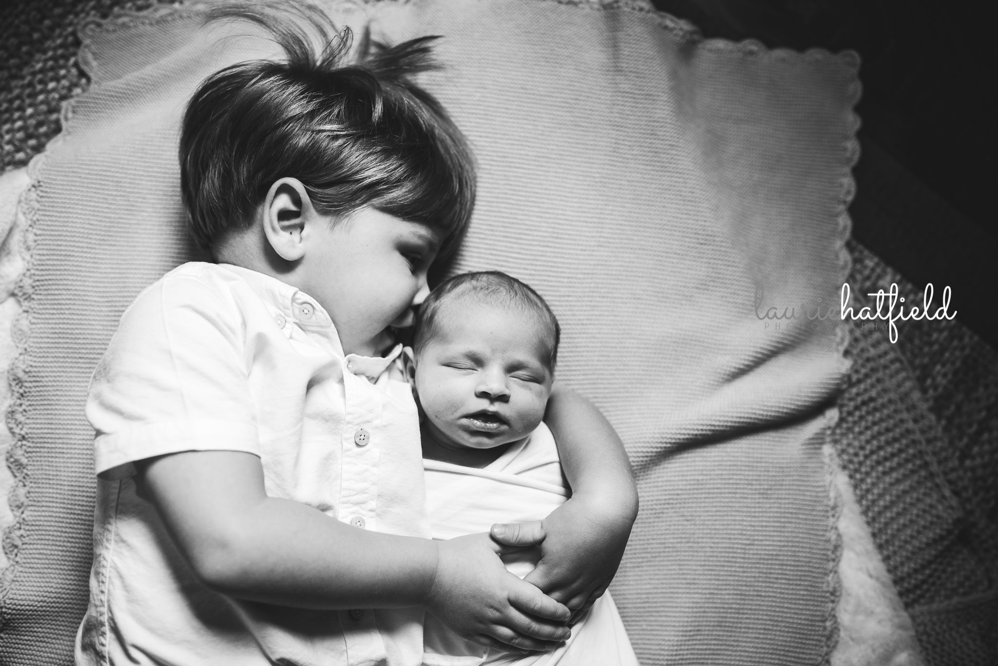 big brother with new baby sister | Mobile AL newborn photographer