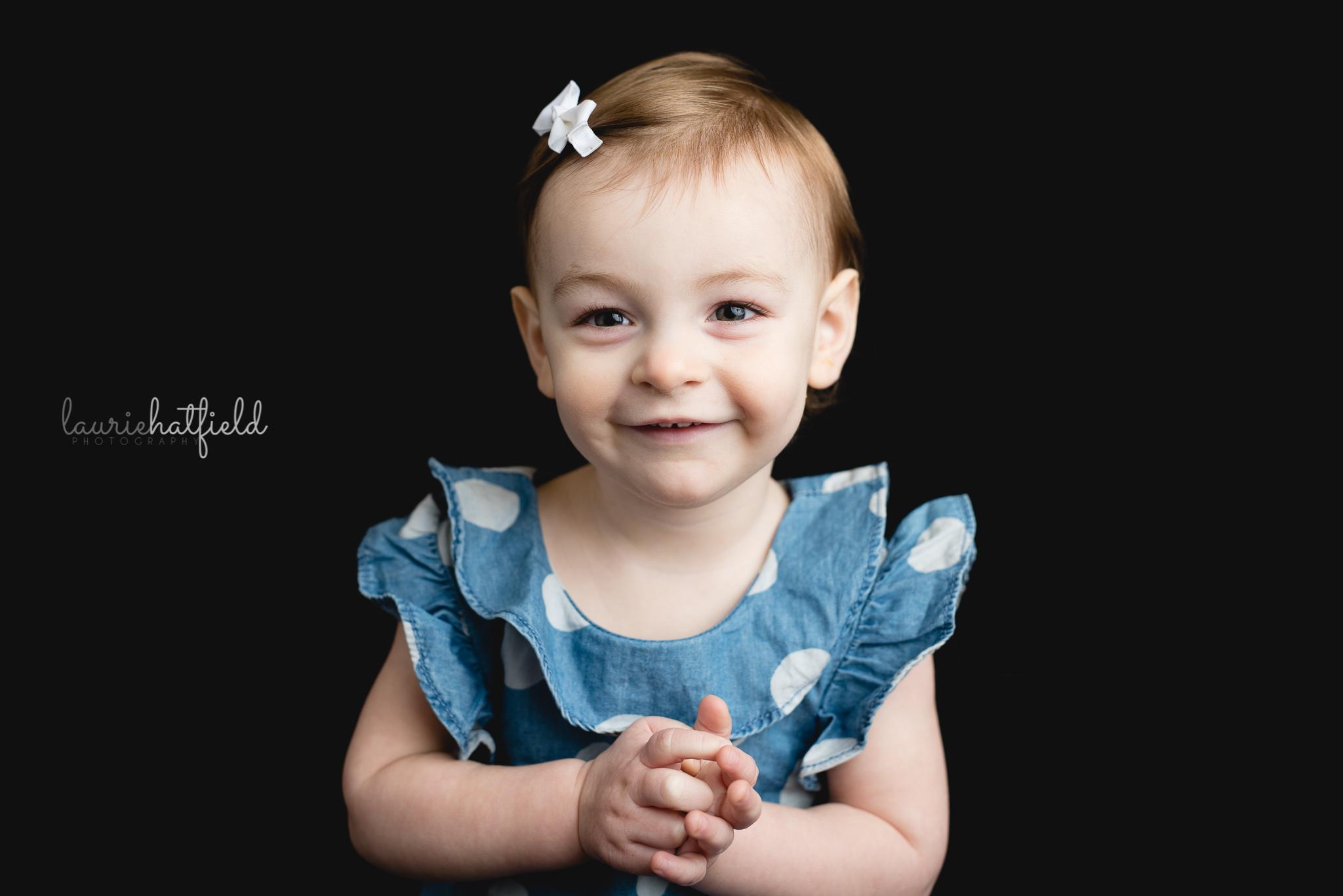 little girl in blue top | Madison AL school photographer