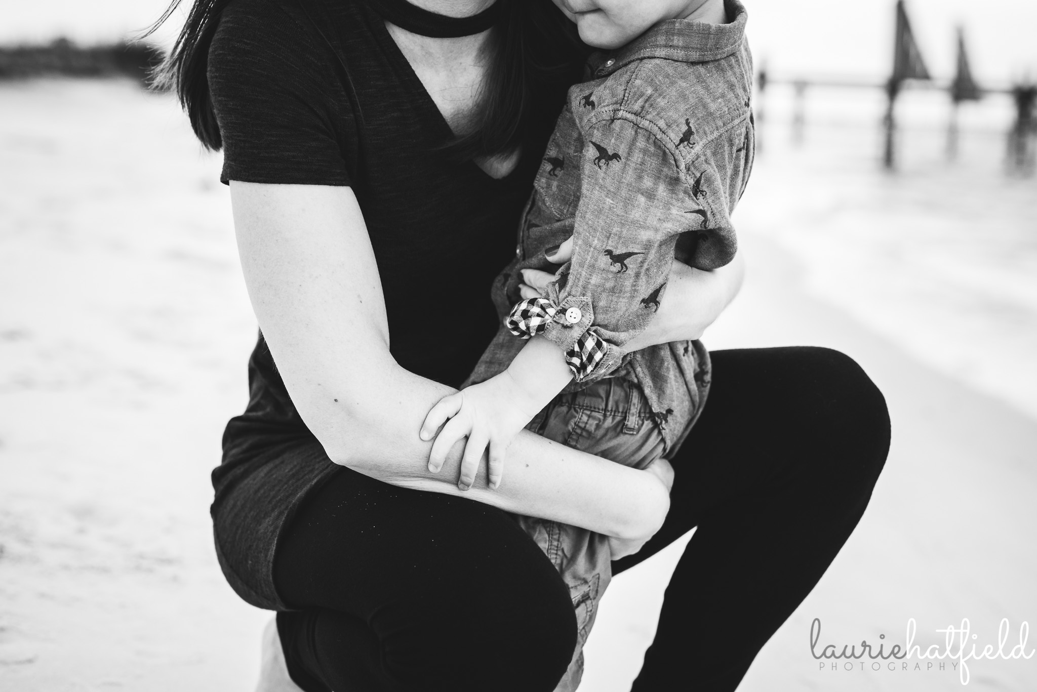 mom holding little boy | Huntsville AL school photographer
