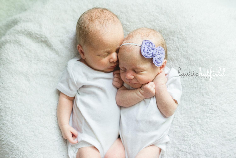 newborn twins boy and girl   best newborn photographer in Huntsville AL