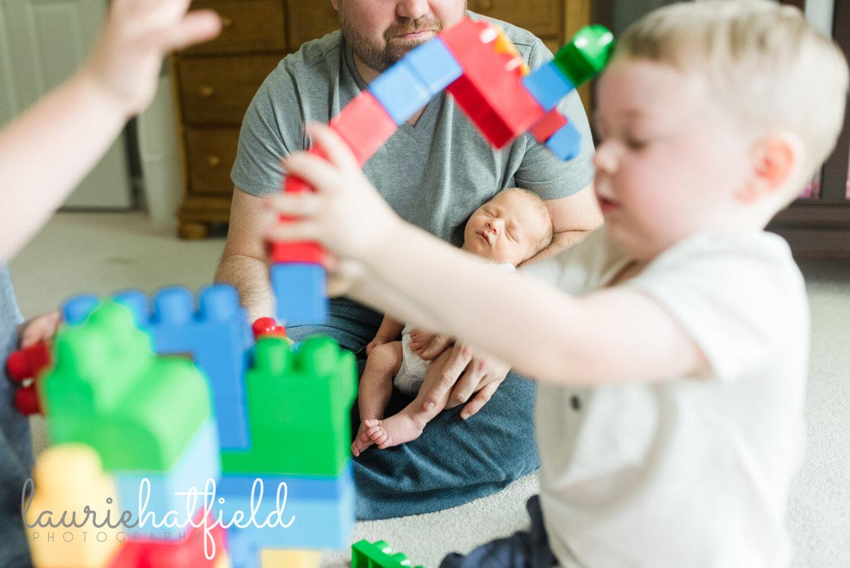 baby brother and blocks   Athens AL newborn photographer