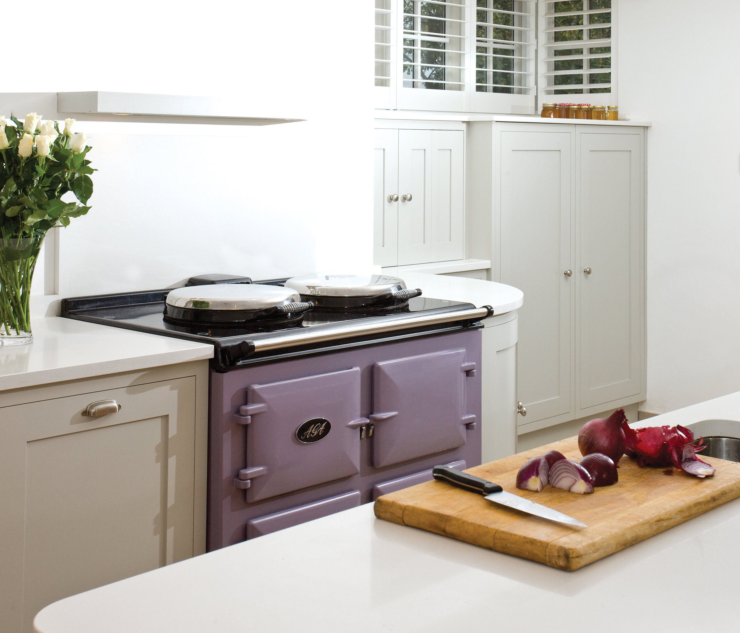 AGA Dual Control 3-oven cooker in Heather