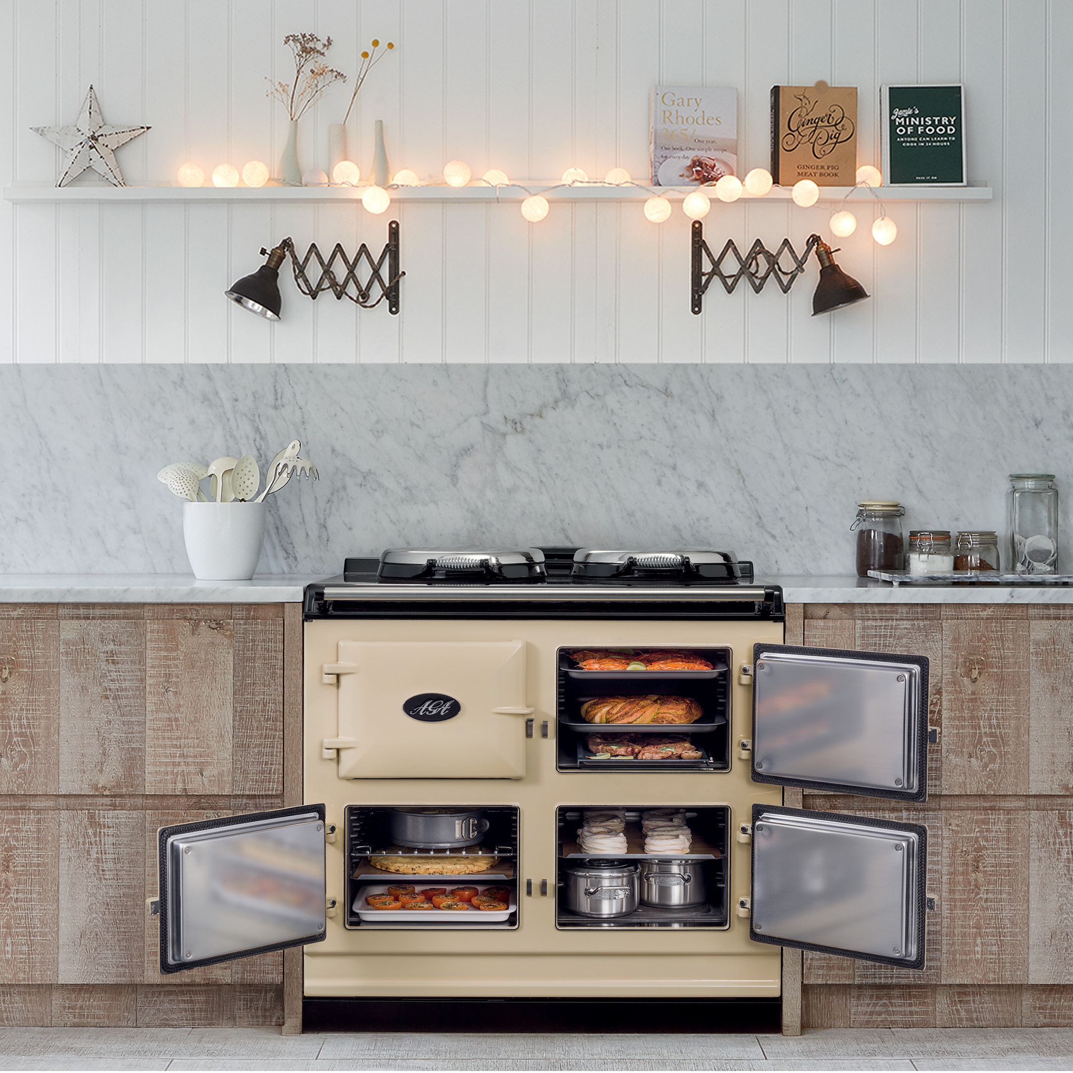 AGA Dual Control 3-oven cooker in Cream