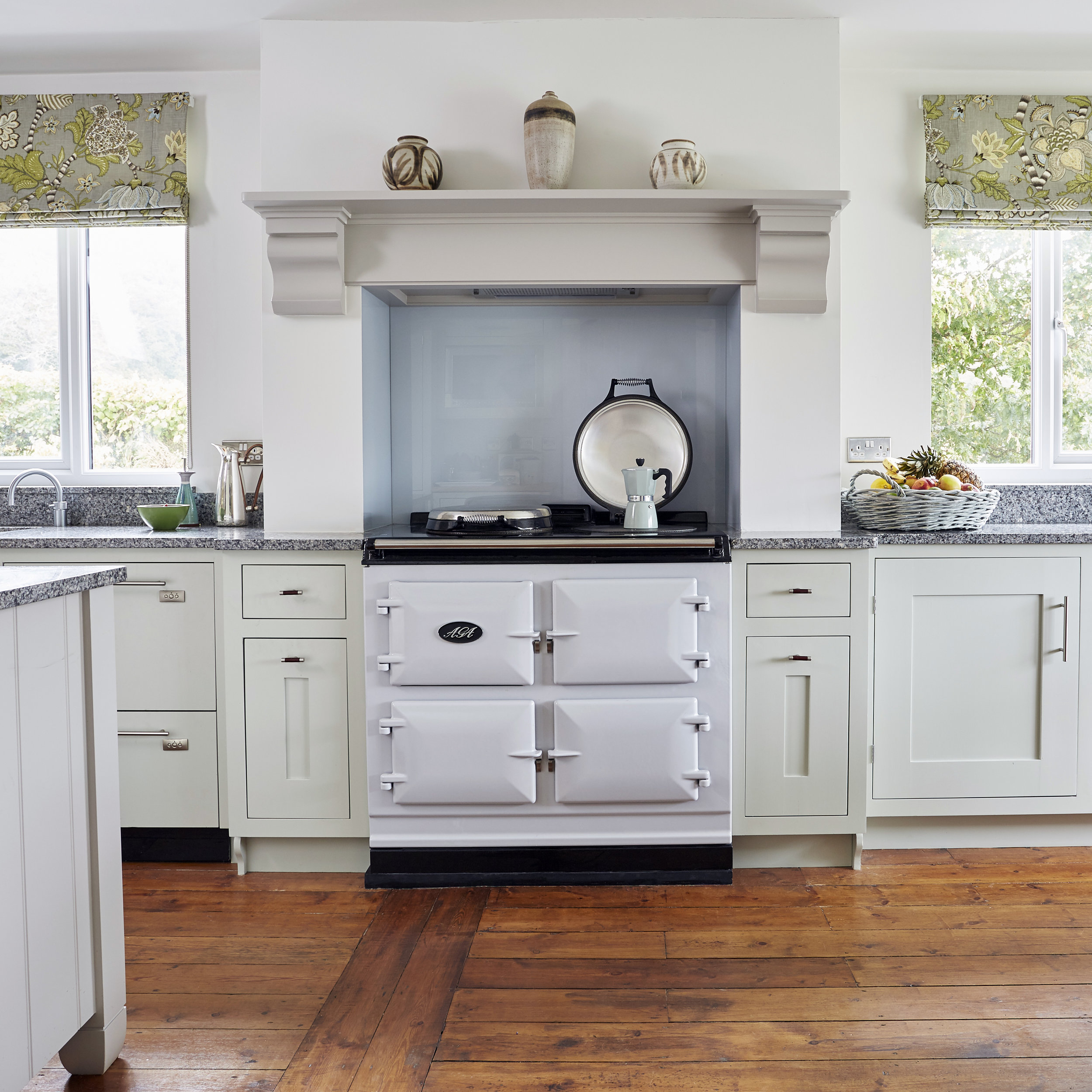 AGA Total Control 3-oven in Pearl Ashes