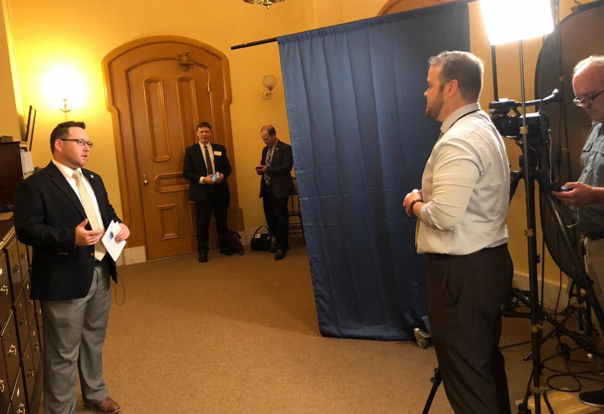 Chamber leaders, such as Logan O'Neill of the Southwestern Auglaize County Chamber, were interviewed by the media about the fast-growing clean energy sector & how it has stimulated regional economies