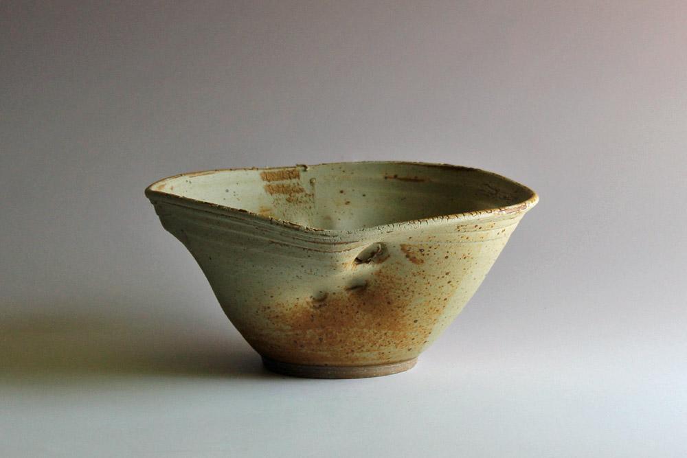 Wheel-thrown & altered bowl