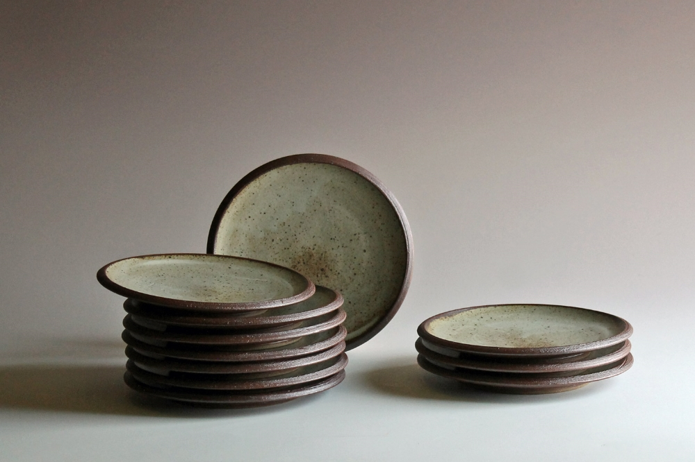 Salad plates with ash glaze