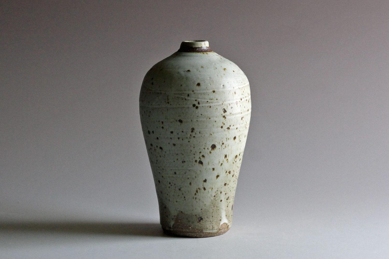 stoneware bottle with matte glaze