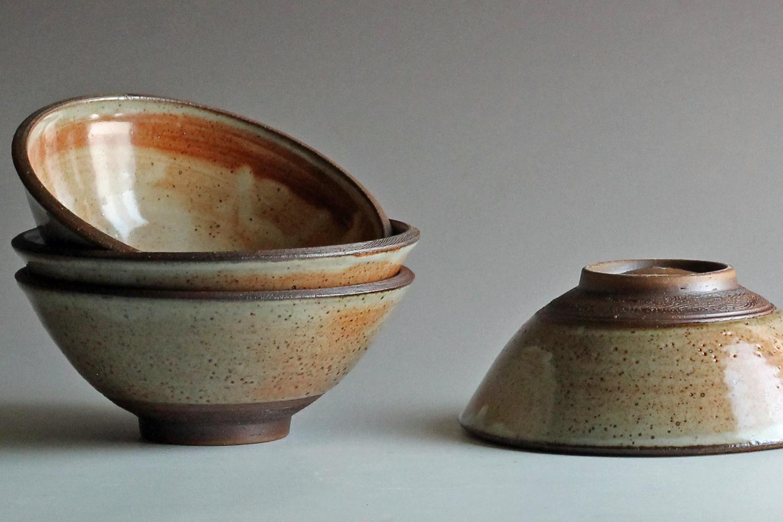 stoneware bowls ash glaze