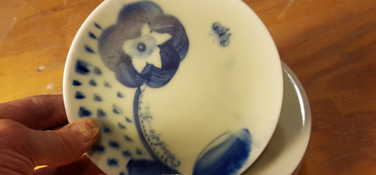 Icheon Korea Celadon on Porcelain