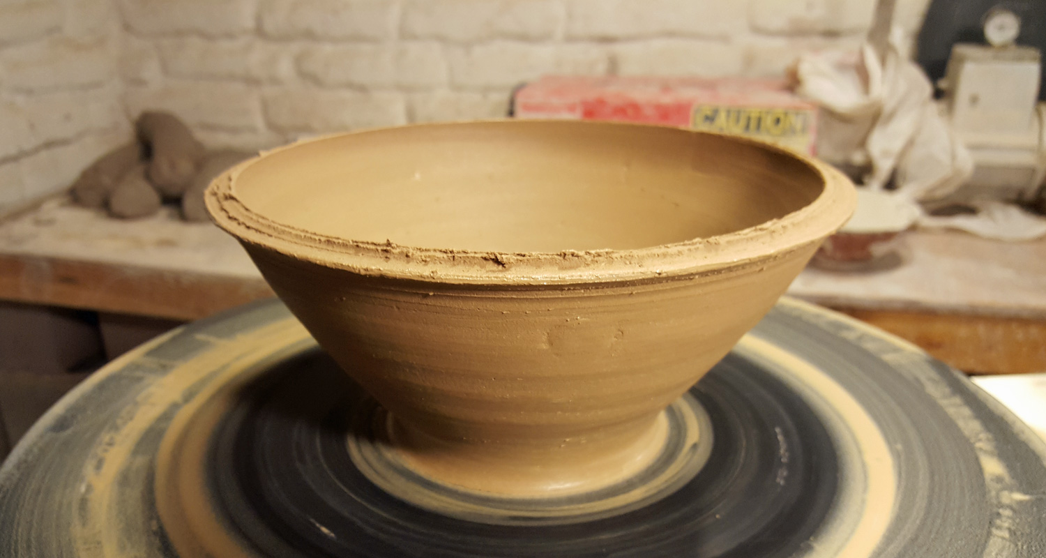 earthenware bowl local clay