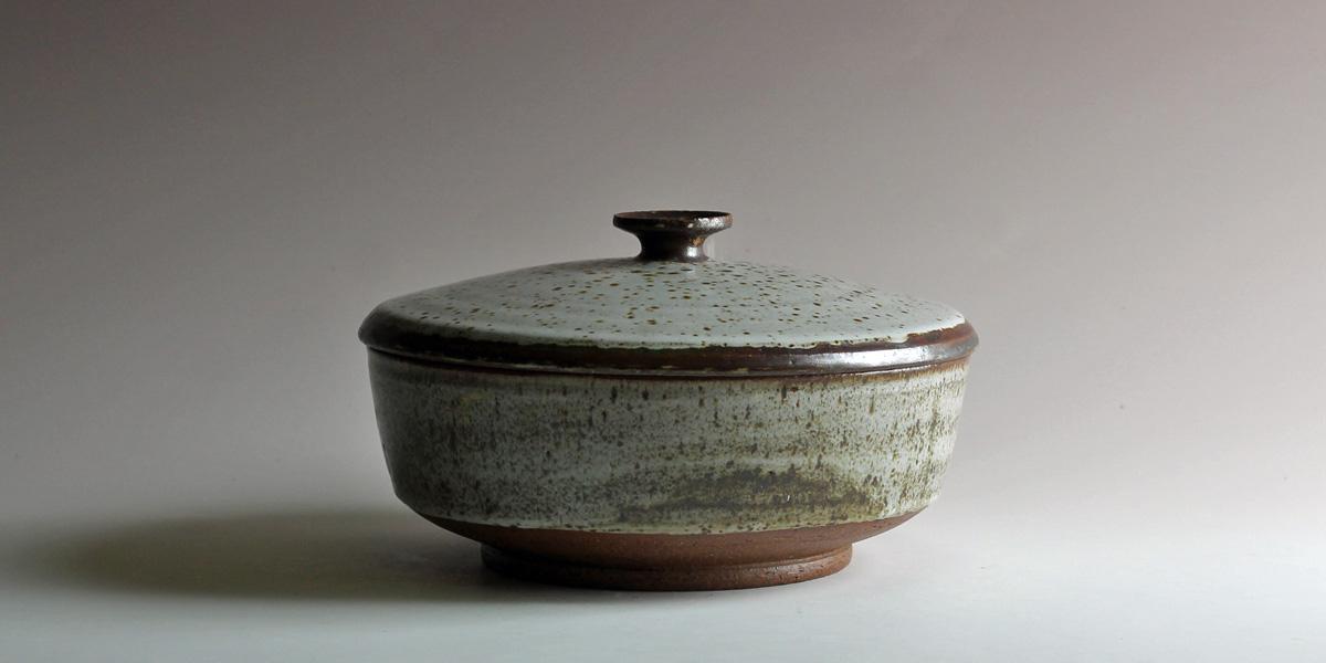stoneware casserole circa 1972