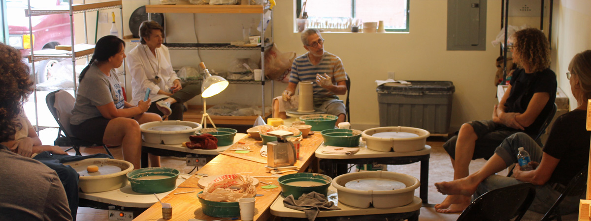 Richard Meyer at Green River Pottery in Santa Fe