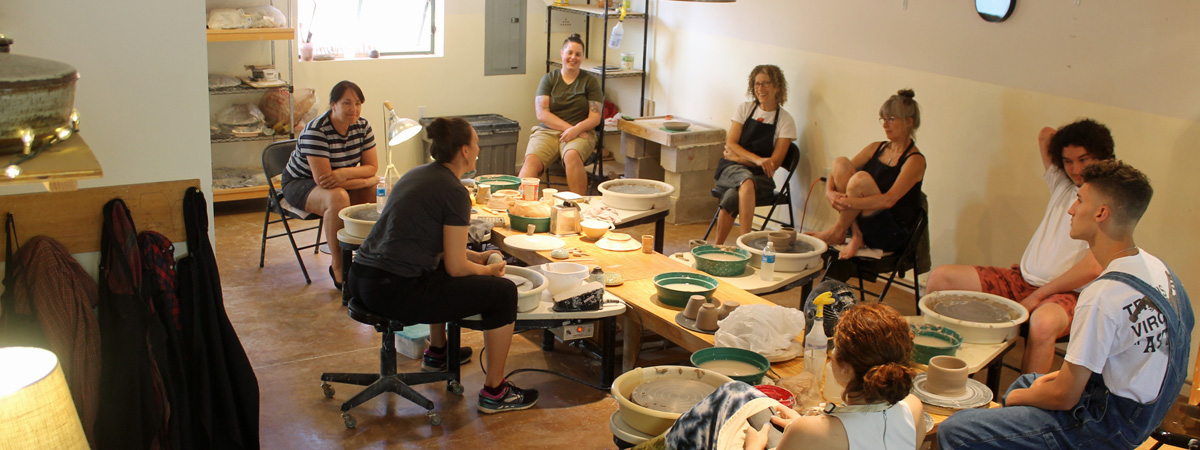 Esther Smith ceramic artist at Green River Pottery 2019