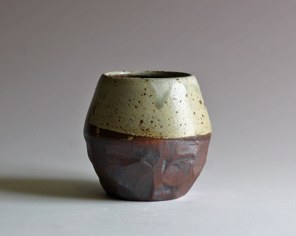 stoneware vase ash glaze