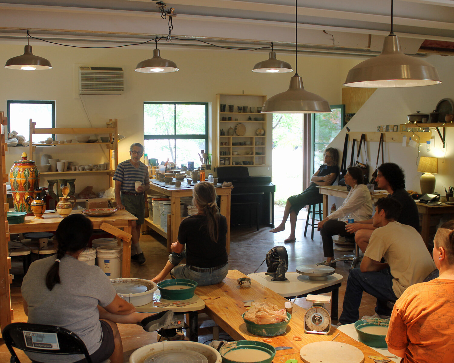 Makers of things yet to be made:  Workshop Weekend July 2019, with the fabulous  Richard Meyer  discussing his stoneware pots