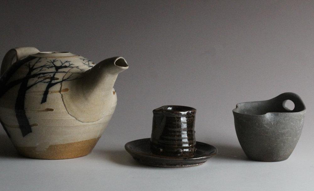 pouring vessels by Julie Crosby, Michael Simon, John Addison