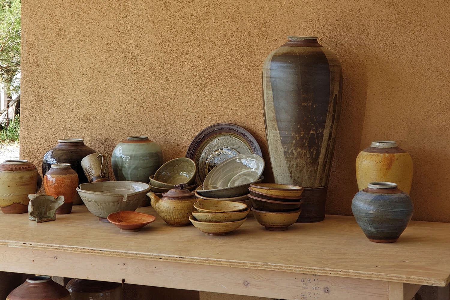 Browse work by three or four potters, pay with your phone, maintain social distancing