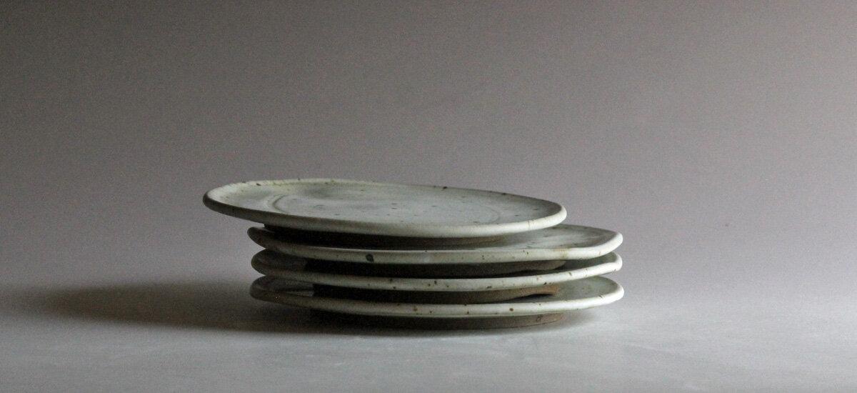 "8"" plates with Rhodes 32 matte glaze July 2020"