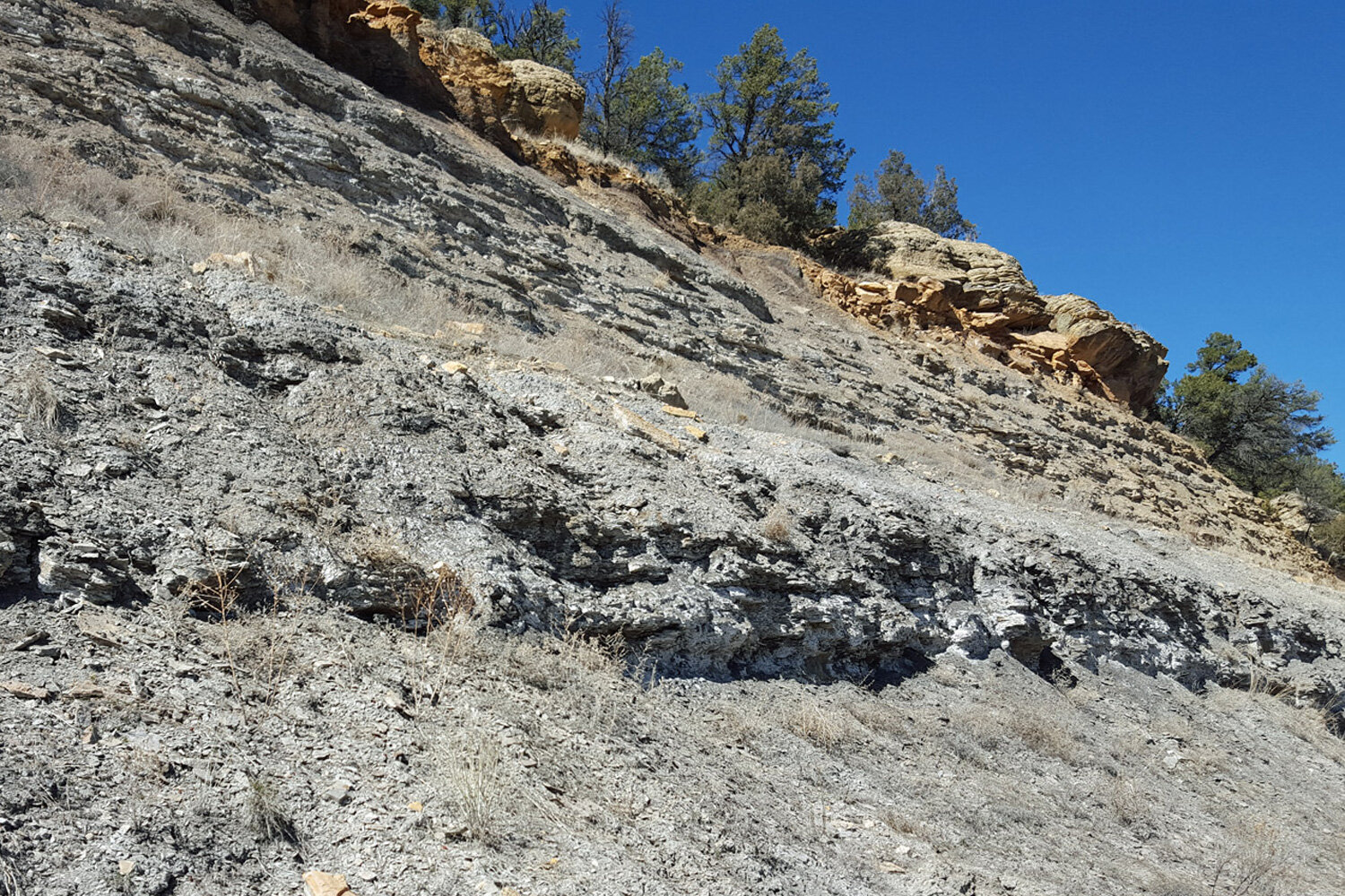…here's a popular spot in Abiquiu New Mexico where a lot of potters dig clay (mile 235 along Rt 84 if you're wondering!)
