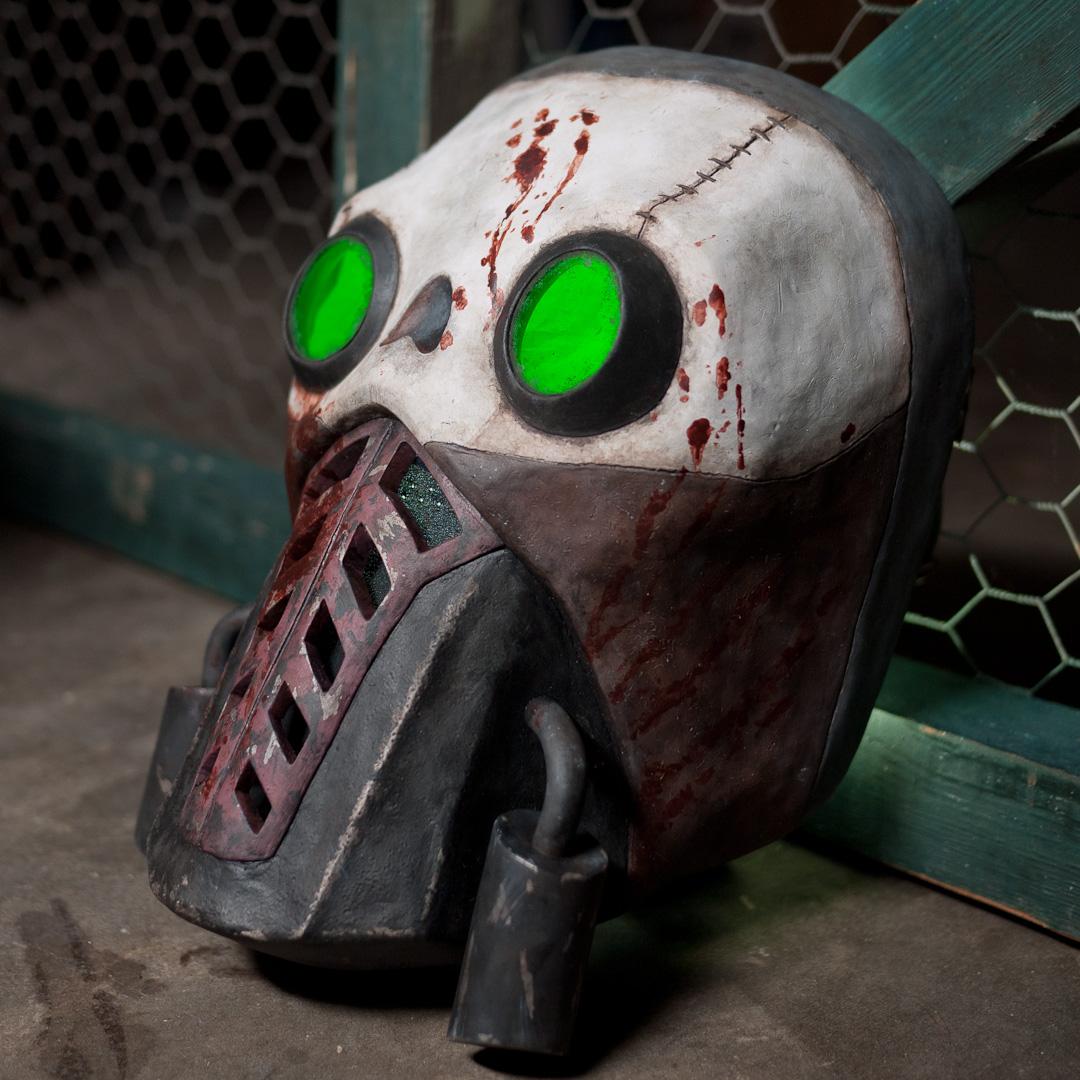 Borderlands 2 Bandit Steve Mask Replica Three-Quarter View