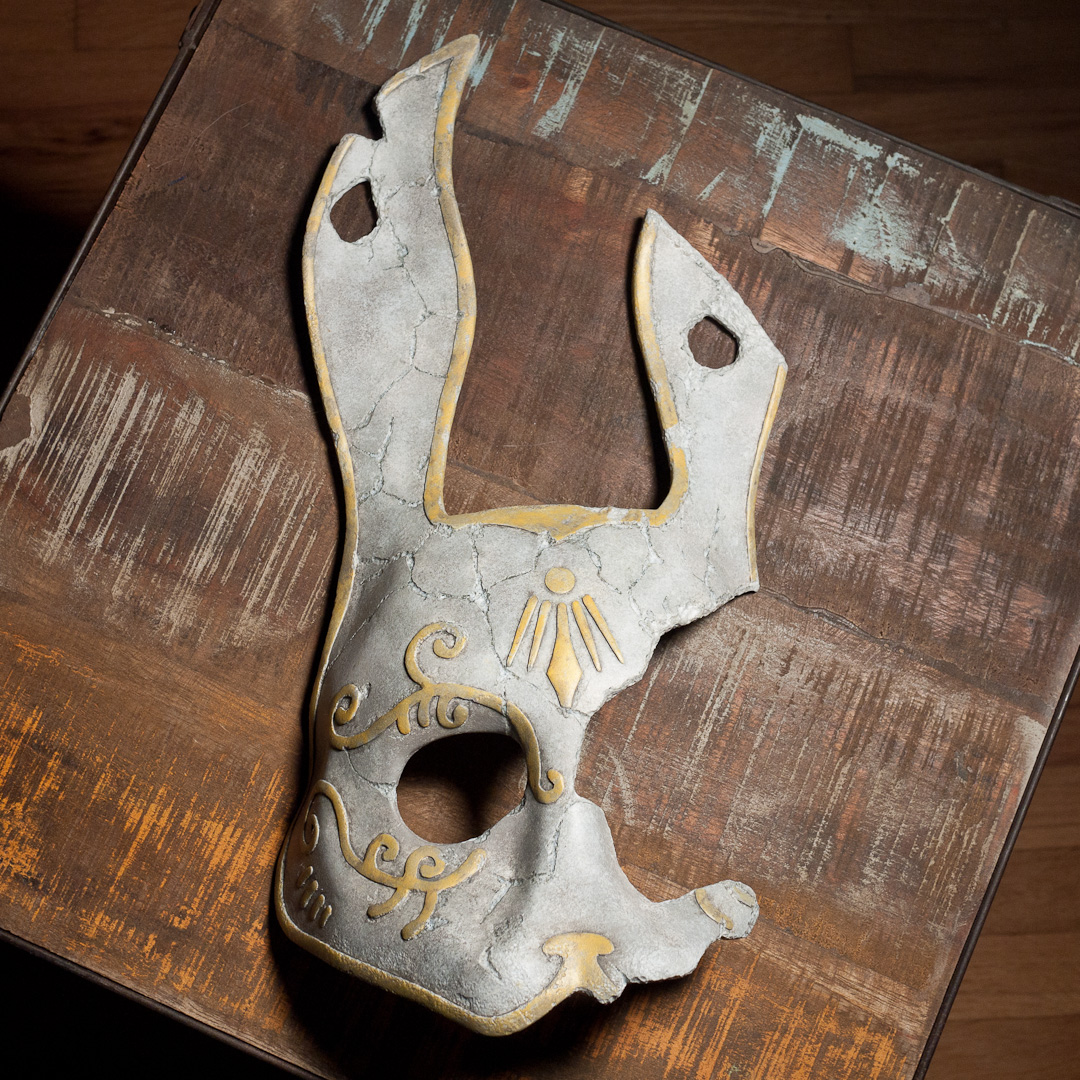 Bioshock 2 Broken Rabbit Splicer Mask Replica Front View