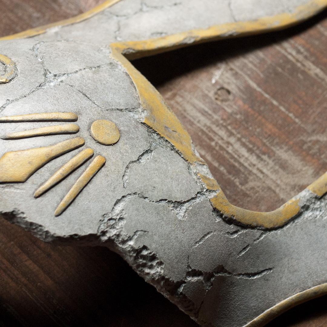 Bioshock 2 Broken Rabbit Splicer Mask Replica Filigree Close-Up View