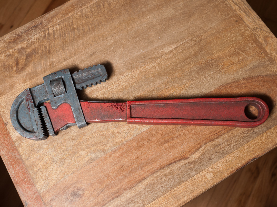 Bioshock Pipe Wrench Prop Replica Front View