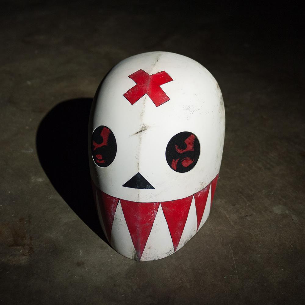 Bedlam Madder Red Mask Replica Three-Quarter View
