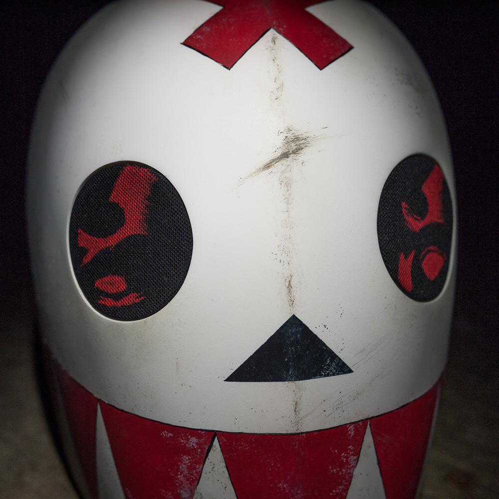 Bedlam Madder Red Mask Replica Eye Close-up View