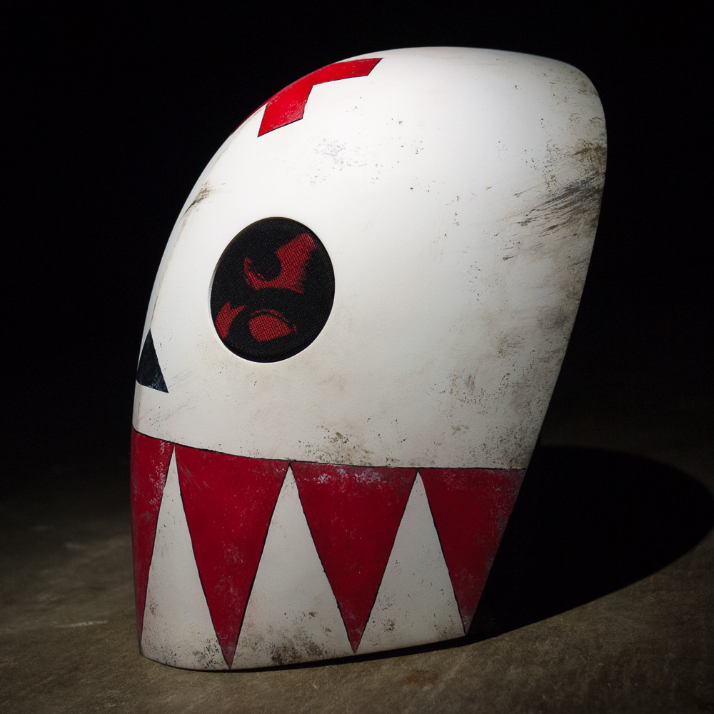 Bedlam Madder Red Mask Replica Profile View