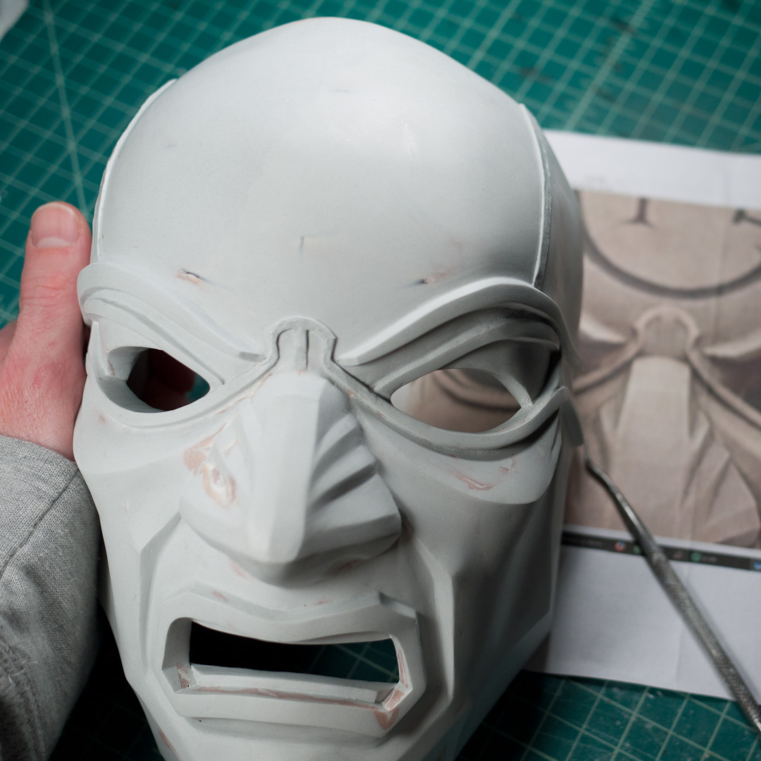 Dishonored Overseer mask ridge sculpting