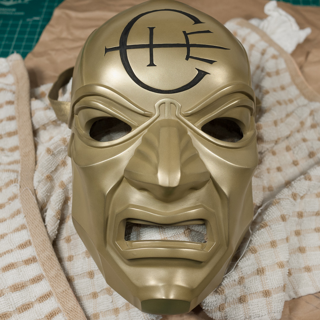 Dishonored Overseer mask polished and insignia painted