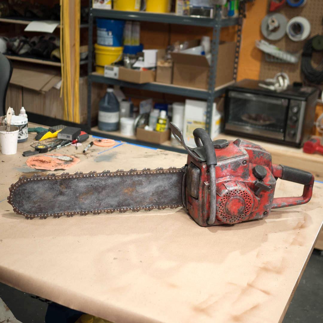 Foam chainsaw prop