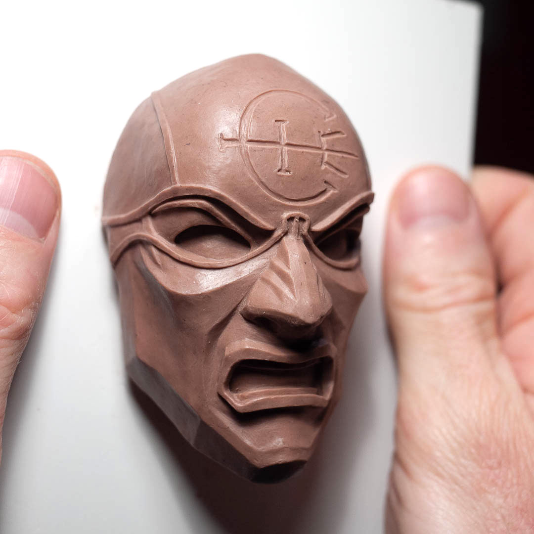 Dishonored Overseer Mini Mask Magnet Clay Sculpture