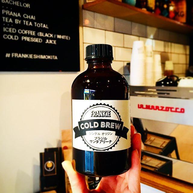 . Our favorite 24H Cold brew!! New summer flavor coming soon♪ . 24時間かけて抽出するコールドブリュー!まもなく、夏らしい新しいフレーバーを味わえます:) . #Frankie #frankieshimokita #espresso #coffee #coffeestand #Melbourne #Australia #shimokitazawa #Tokyo #cafe #welovecoffee #homemade #sweets #tokyocoffee #カフェ #下北沢 #下北沢カフェ #カフェ巡り #コーヒー #エスプレッソ#オーストラリア #メルボルン #コーヒースタンド #coldbrew #コールドブリュー