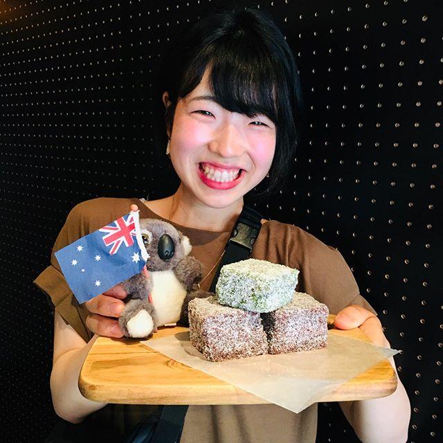 National Lamington day!! Let's try our homemade lamingtons! . 今日はラミントンデイ!FRANKIEのスイーツはお店で手作り♪ . #frankieshimokita #espresso #coffee #coffeestand #Melbourne #Australia #shimokitazawa #Tokyo #cafe #welovecoffee #カフェ #下北沢 #下北沢カフェ #コーヒー #メルボルン #フランキー #コーヒースタンド #lamington #homemade #sweets #スイーツ #ラミントン #手作りスイーツ