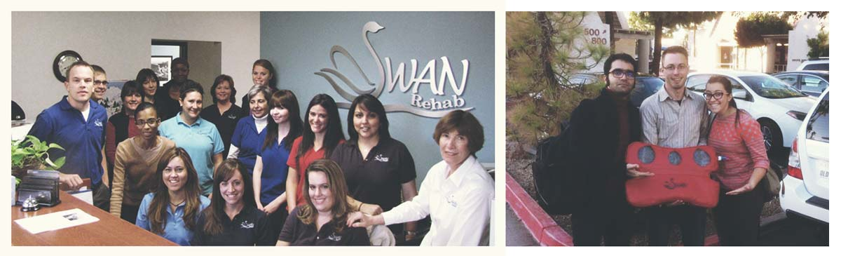 LEFT: Swan Rehab Medical Center, RIGHT: Design Group members including me, Warren Tenney, Shelley Esplin.
