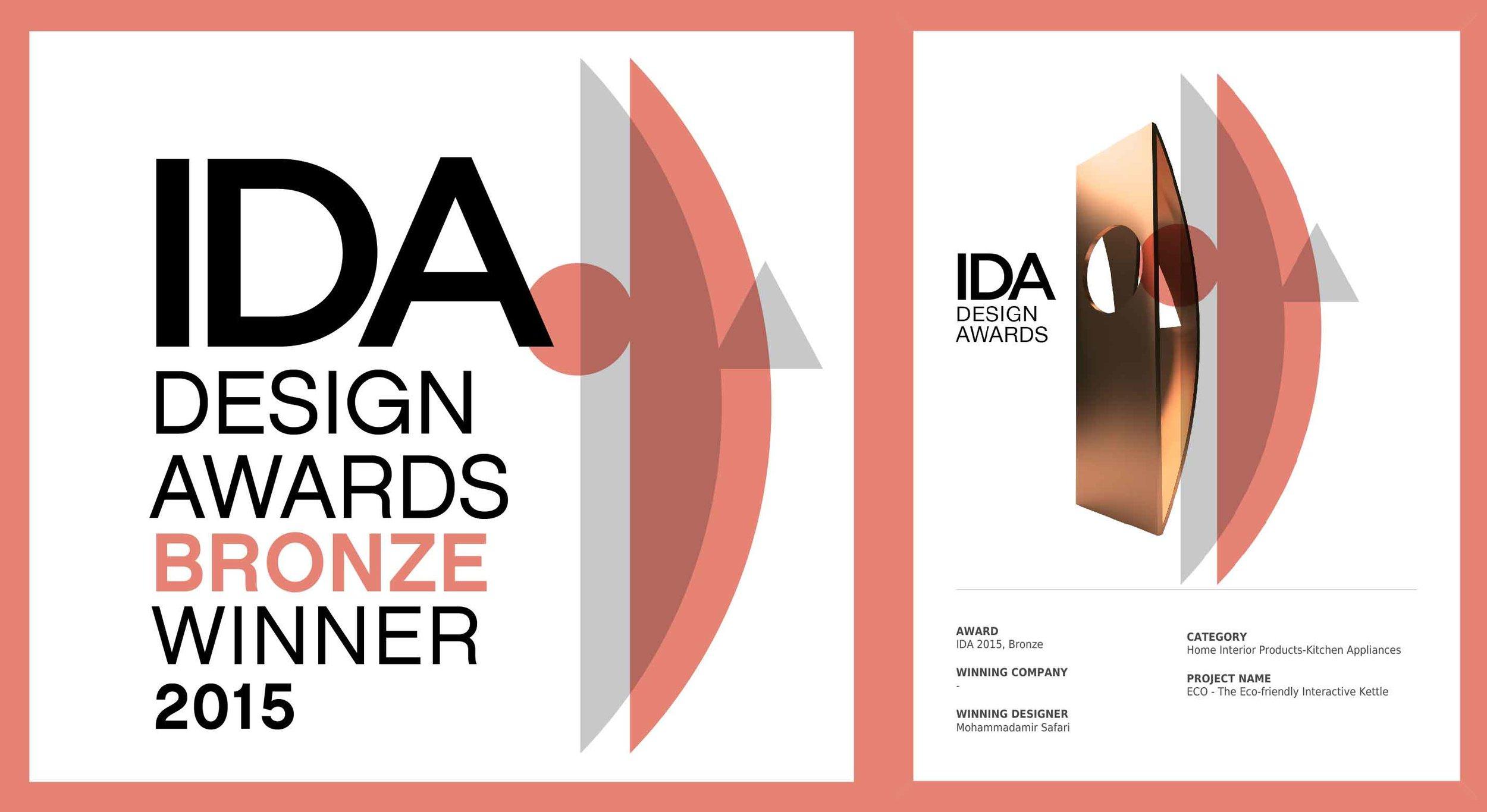 International Design Award Bronze Winner  Home Interior Products - Kitchen Appliances