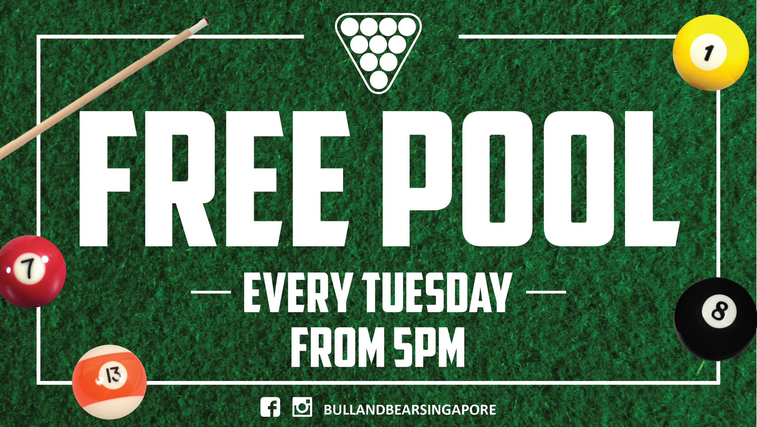 Free Pool Tuesdays