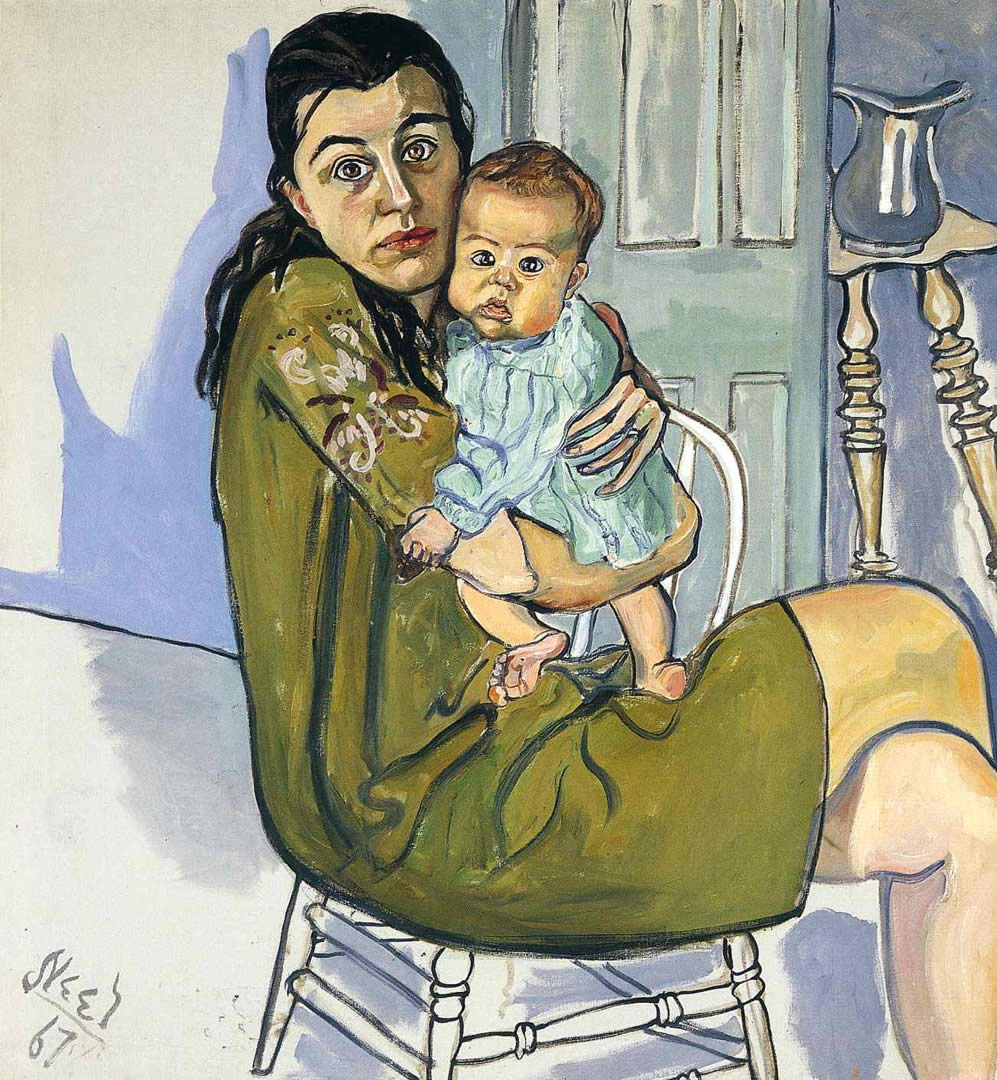 Alice Neel,  Nancy and Olivia , 1967.