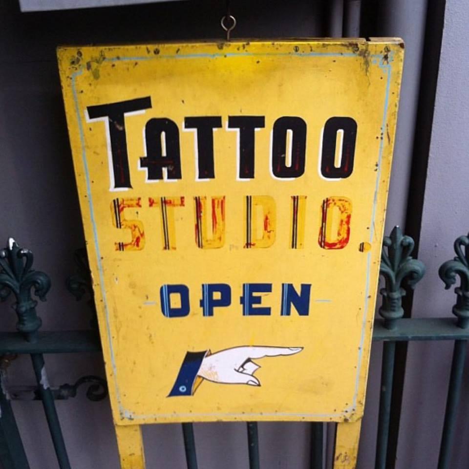 Sign outside Johnny Dollars studio