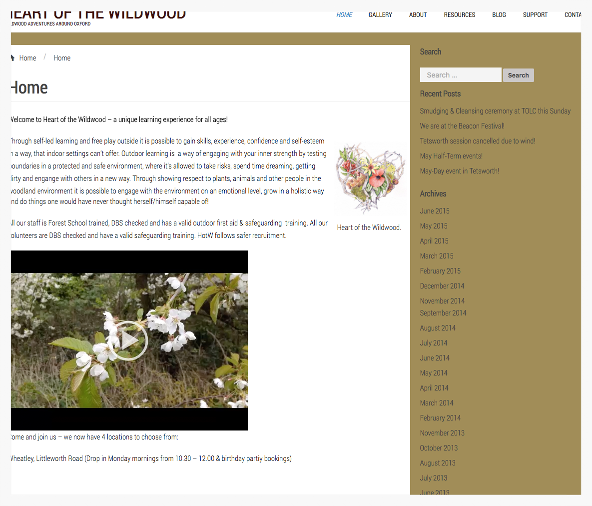 Heart of the Wildwood's old website lacked images of the people it serves — children.