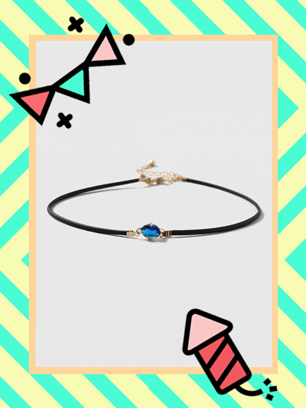 TOPSHOP SEPTEMBER BIRTHSTONE CHOKER , £9