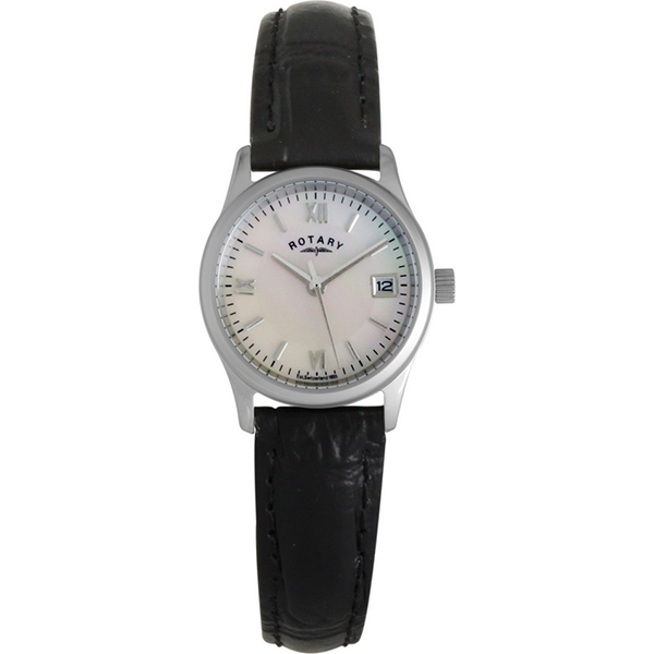 ROTARY LADIES BLACK LEATHER STRAP WATCH,  £49.99 (RRP £95)  USE DISCOUNT CODE 'SB7'