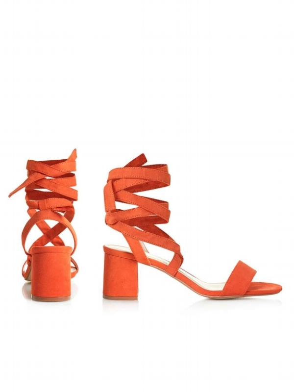 TOPSHOP DELILAH TIE-UP SANDALS , £29