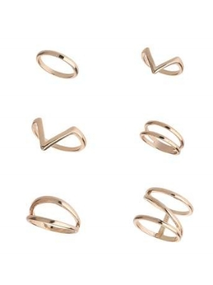 GEO CUT OUT RINGS , £8.50
