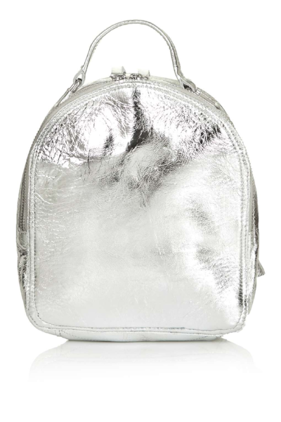 TOPSHOP MINI LEATHER ZIP BACKPACK , £50