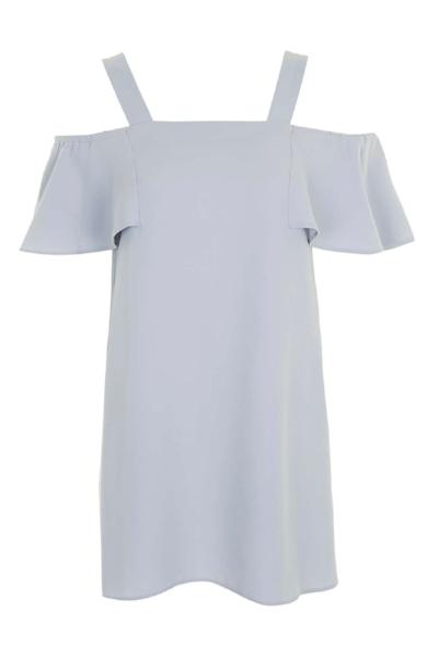 COLD SHOULDER BARDOT DRESS , £42