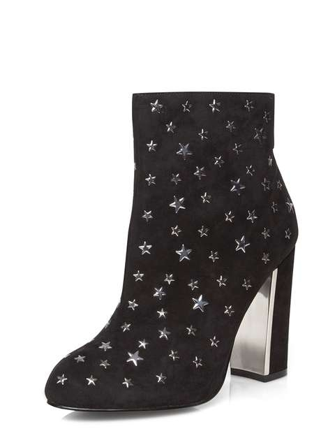 BLACK 'ALISON' STAR ANKLE BOOTS , £45